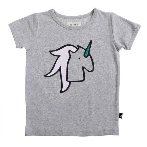 UNICORN SS TEE GREY MARLE