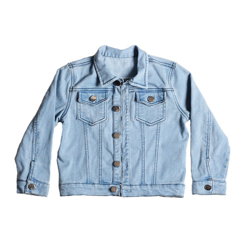 MOSH PIT DENIM LOOK JACKET BLUE