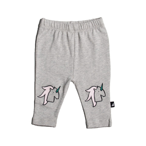UNICORN KNEE PRINT LEGGINGS GREY MARLE