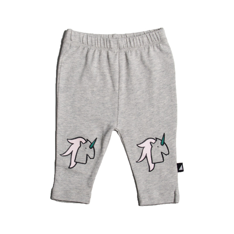 UNICORN PRINTED LEGGINGS GREY MARLE