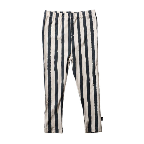 GRUNGE STRIPE LEGGINGS SLATE