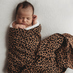 MUSLIN SWADDLE BROWN LEOPARD