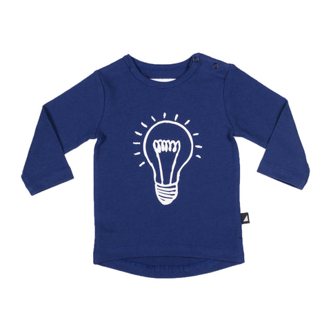 LIGHT BULB LS TEE NAVY
