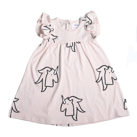 UNICORN AOP PRINCESS LINE SS DRESS