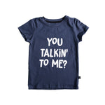 YOU TALKIN TO ME SS TEE INDIGO