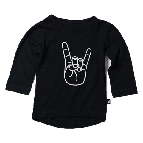 HORNS LS TEE BLACK