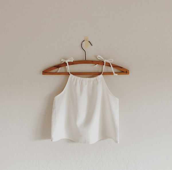 daisy simple linen tank [ multiple color selections ]