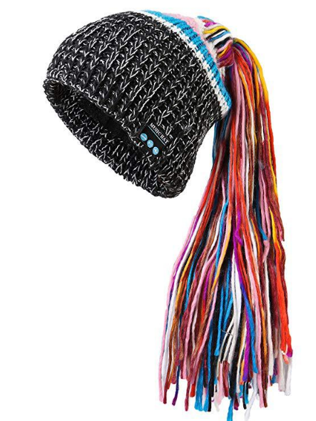 Chic Winter Warm Knit Bluetooth Beanie with Wireless Headphone Headset for Outdoor Sport - Those Groovy Pets