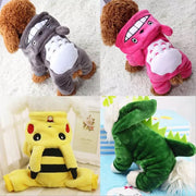 Pet Clothes Winter Warm Fleece Chihuahua Coat Jackets Puppy Cat Hoodies Costumes Pug French Bulldog Clothing - Those Groovy Pets
