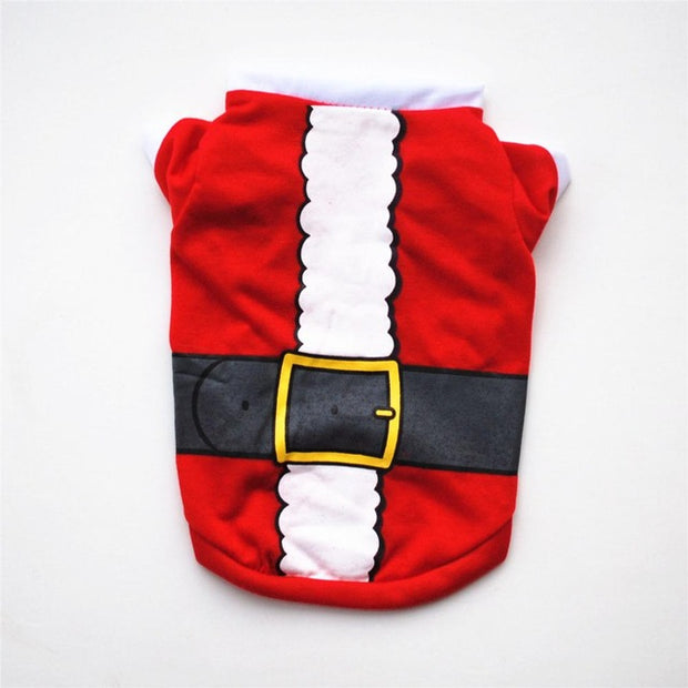 Pet Dog Clothes Christmas Costume Cute Cartoon Clothes For Small Dog Cloth Costume Dress Xmas apparel for Kitty Dogs - Those Groovy Pets