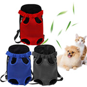 Breathable Pet Carrier Bag Washable Mesh Dog Stroller Backpack Polyester Travel Outdoor Shoulder Handle Holes Package Bags - Those Groovy Pets