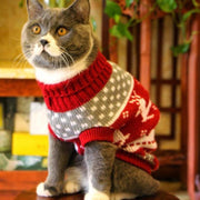 Cute Cat Sweater Costume Winter Warm Pet Clothes Cat Clothing for Cat supplies Pets Products for Animals - Those Groovy Pets