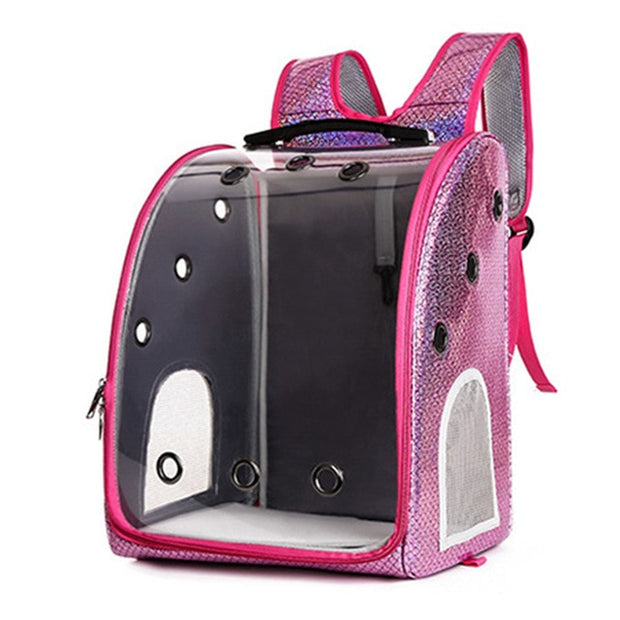 Multiple-Use Pet Bag Transport Transparent Outdoor Travel Dog Cat Bag Windproof Breathable Carrying Pet Backpack Bag Cat Carrier - Those Groovy Pets