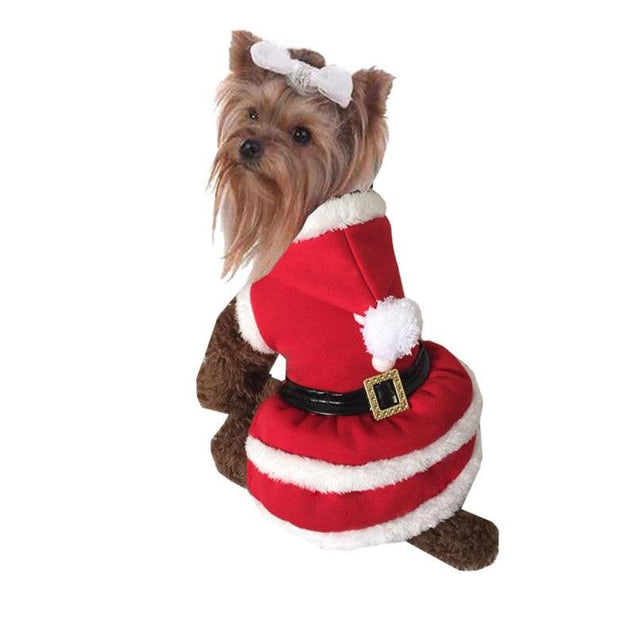 Cute Red Christmas Style Pet Dogs Dress Free Shipping By CPAM Small Puppy Dogs Clothing - Those Groovy Pets