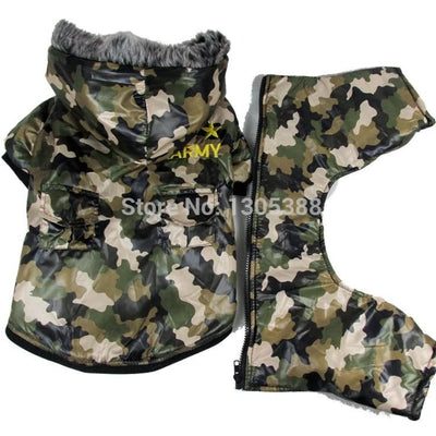 Camouflage waterproof windbreaker Style Pet dogs Coat Free Shiping By CPAM Dogs Clothing - Those Groovy Pets