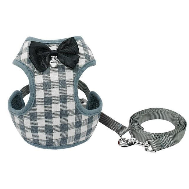 small-dog-harness-and-leash-set-pet-cat-vest-harness-with-bowknot-mesh-padded-for-small-puppy-dogs-chihuahua-yorkies-pug - Those Groovy Pets