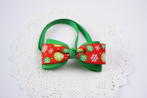1 Pieces Cute Christmas Pet Supplies Handmade Ribbon Dog Bow Ties 8 Colors Cat Neck Tie Dog Accessories - Those Groovy Pets