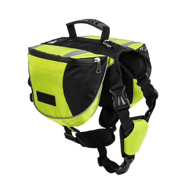 TAILUP Pet Outdoor Backpack Large Dog Reflective Adjustable Saddle Bag Harness Carrier For Traveling Hiking Camping Safety - Those Groovy Pets