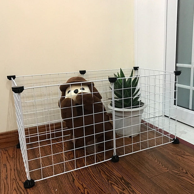 Foldable Pet Playpen Iron Fence Puppy Kennel House Exercise Training Puppy Kitten Space Dogs Supplies rabbits guinea pig Cage - Those Groovy Pets