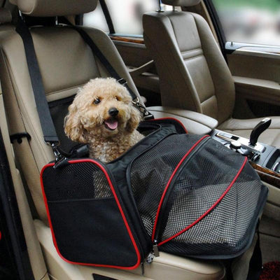 1pc Multi-functional Folding Pet Puppy Dog Carrier Dog Cat Car Seat Basket Mat Cage Safe Carry Seat Bag Pet Shoulder Bag Carrier - Those Groovy Pets