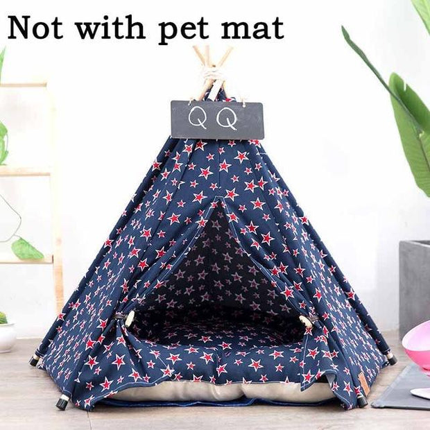 jormel-pet-tent-dog-bed-cat-toy-house-portable-washable-pet-teepee-stripe-pattern-fashion-2019-not-included-mat - Those Groovy Pets