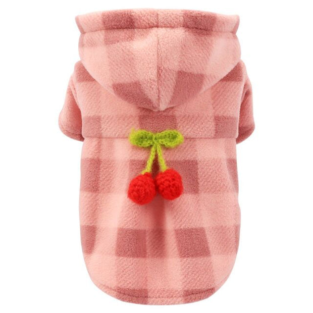 Teddy Dog Clothes Pomeranian Bichon Frise Pet Spring Small Dog Early Spring Clothing Powder Tartan Woolen Coat - Those Groovy Pets