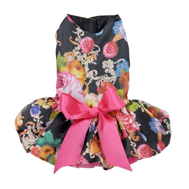 Cute Polka Dot Ribbon Dog Dress Clothes Cozy Sleeveless Dog Shirt Pet Dress Sundress Princess Party Small Dog Skirt Clothing - Those Groovy Pets
