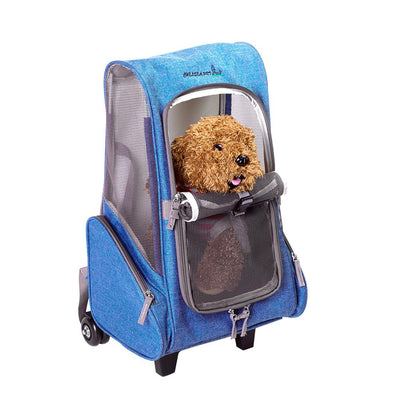 Multi-functional Pet Stroller Breathable Mesh Portable Pet Cart With Detachable Pulley For Outdoor With Air Shipping Standards - Those Groovy Pets