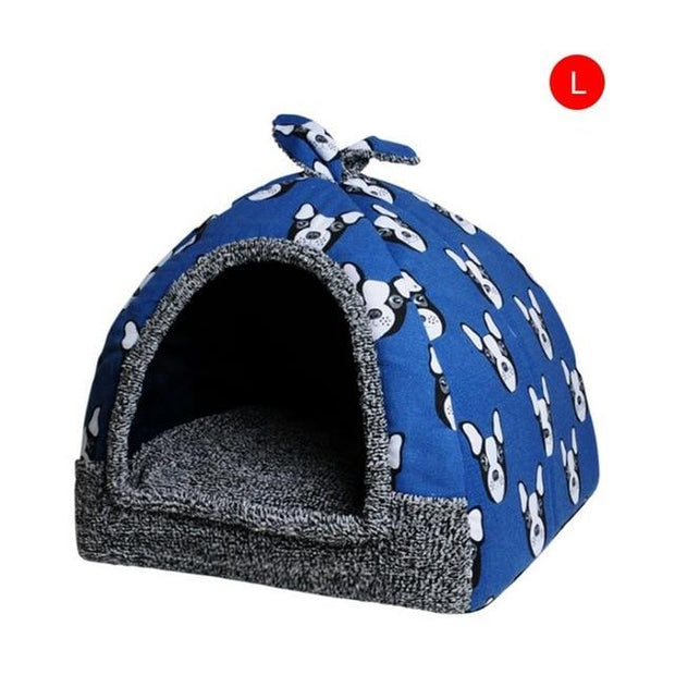 hot-fleece-soft-pet-yurt-home-dog-bed-puppy-dog-kennel-pet-bed-house-for-dog-cat-small-animals-home-dog-house-with-mat-chihuahua - Those Groovy Pets
