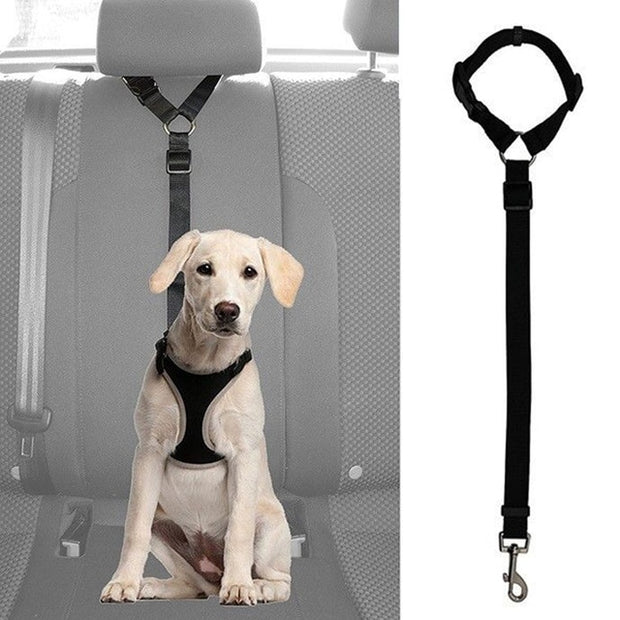Dog Cat Pet Safety Adjustable Car Seat Belt Harness Leash Travel Clip Strap Lead - Those Groovy Pets