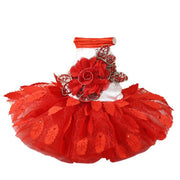 Fashion summer red dog dresses  chihuahua dress for little dog pet skirt Princess wedding Dress with leaves dog  dress clothes - Those Groovy Pets