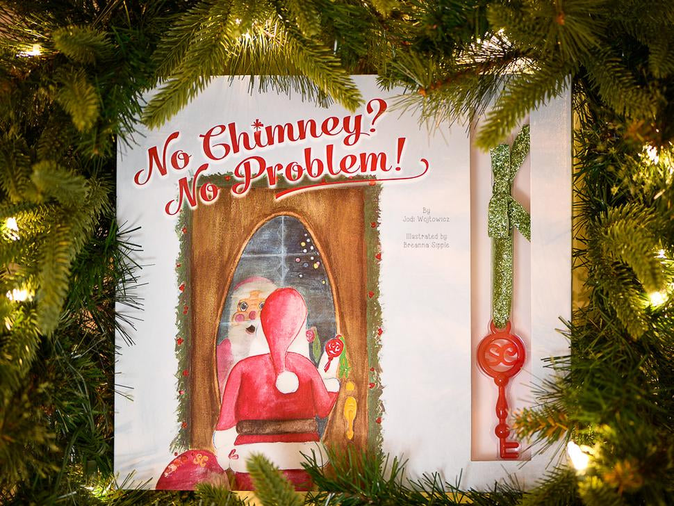 No Chimney? No Problem! Book & Santa Key Gift Set