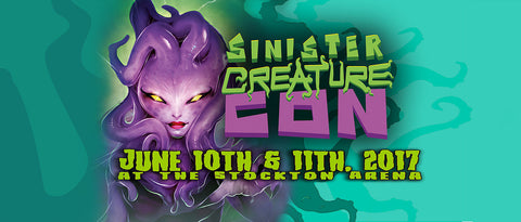 Come see us at Sinister Creature Con!