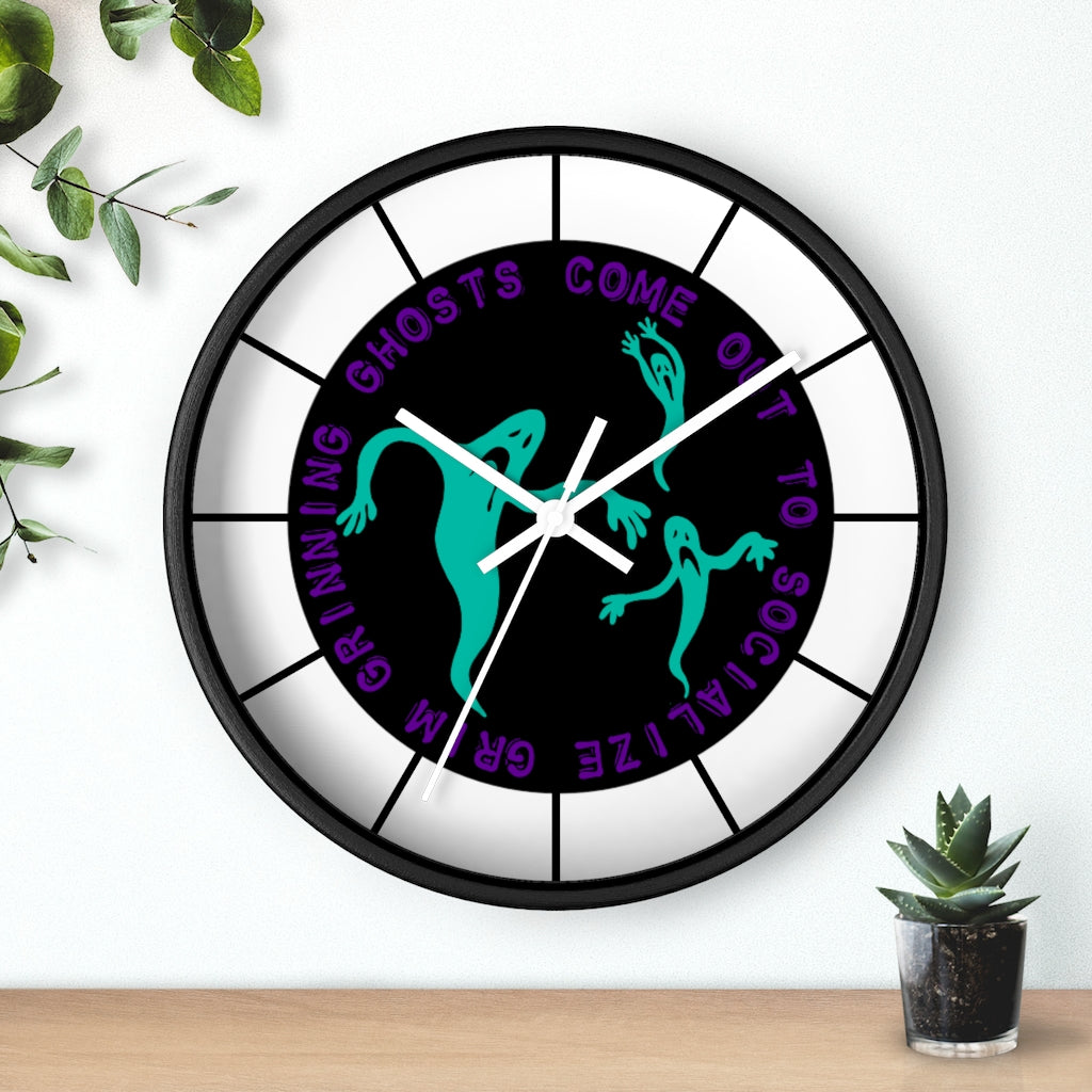 Grim Grinning Ghosts Wall clock