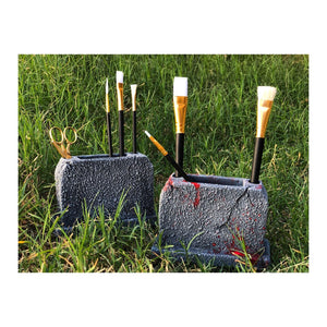 Tombstone Brush Holder