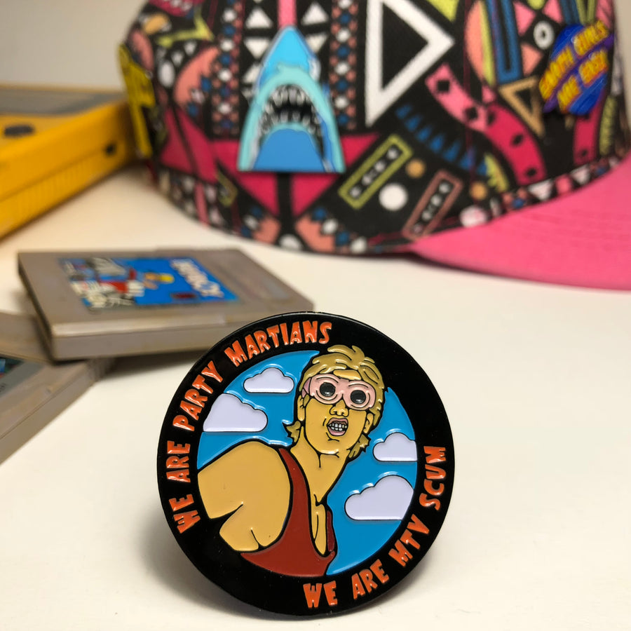 Party Martians enamel pin
