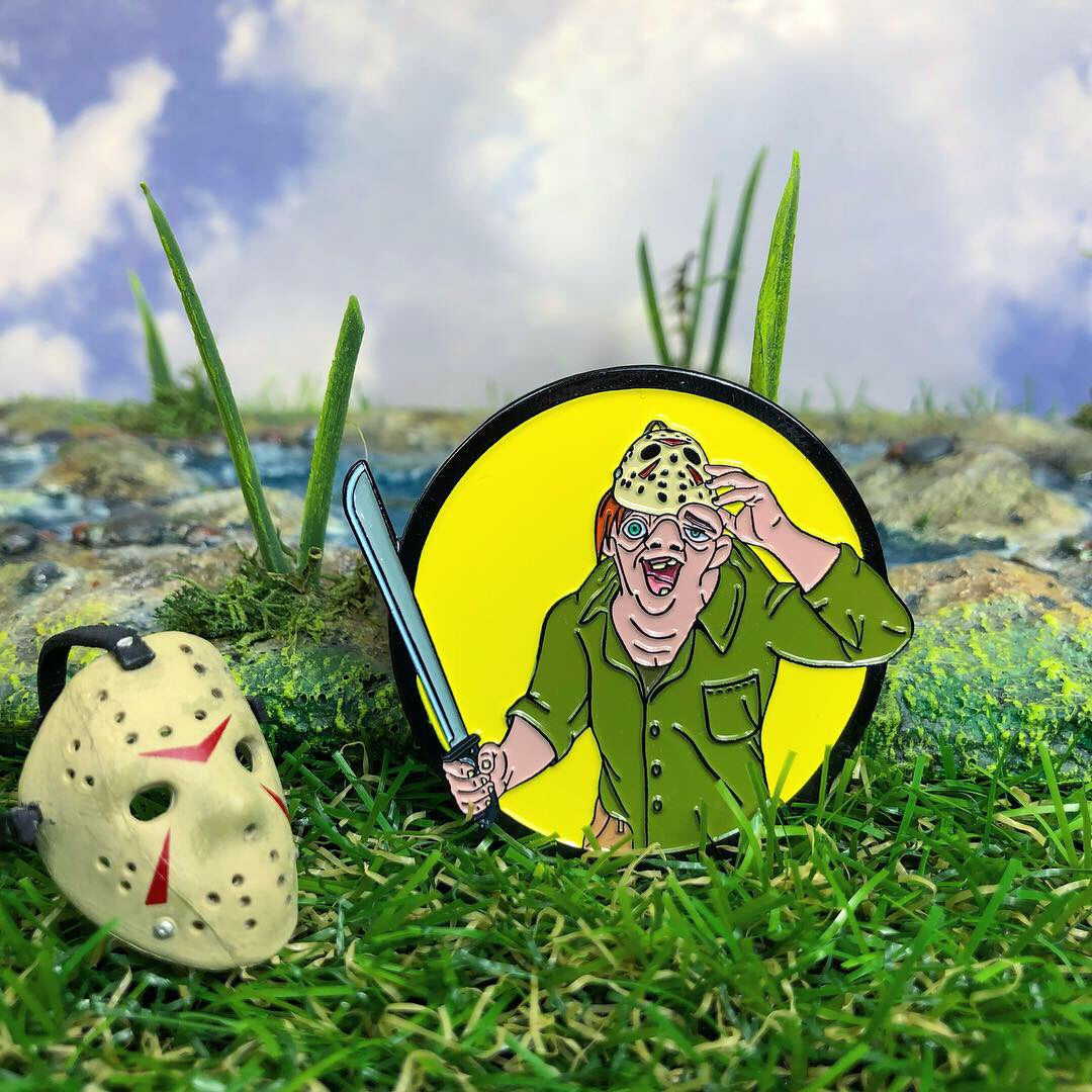 The Hunchback of Crystal Lake Enamel Pin