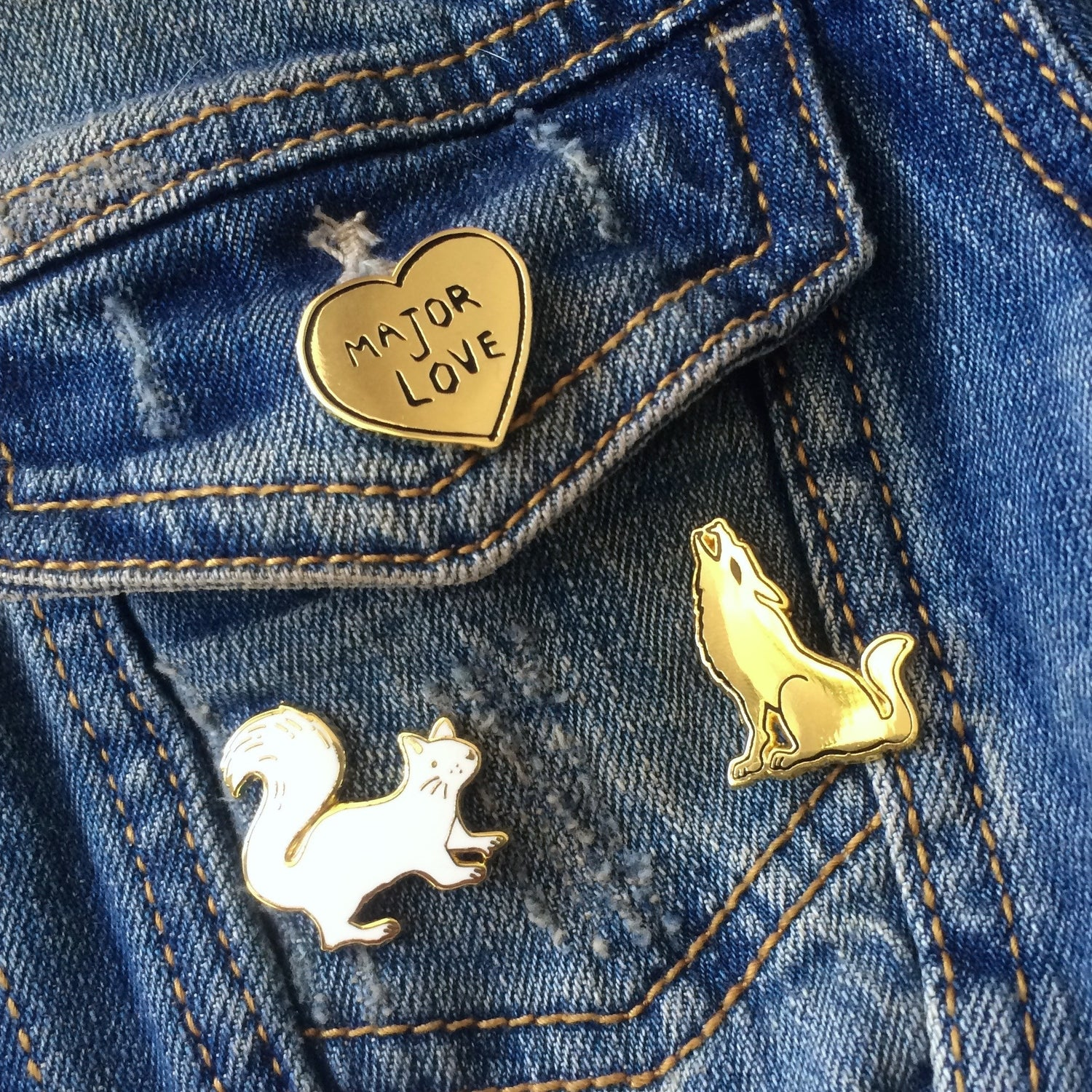 Major Love Heart Pin