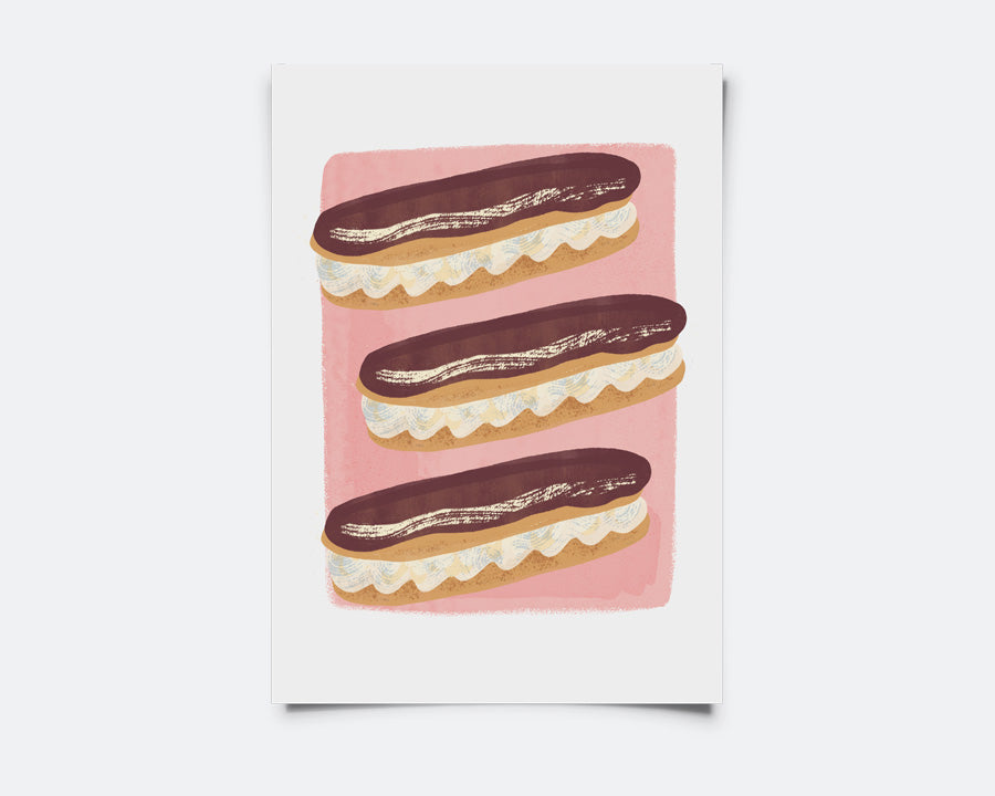 Set of TWO Little Prints: Eclairs & Croquembouche