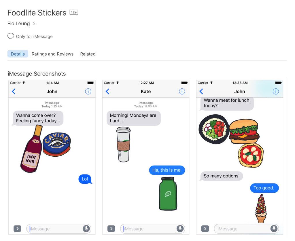 Foodlife Stickers for iOS