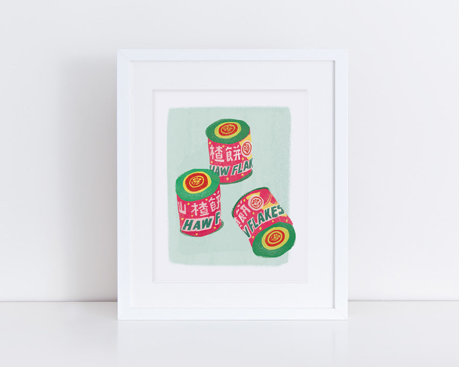 Haw Flakes Candy Print