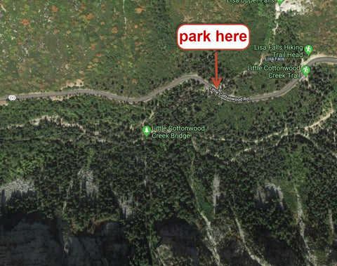 where to park for hiking utah y couloir