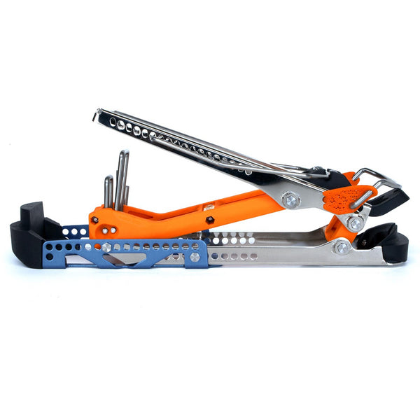 Daymakers Alpine Adapter alternative to a ski touring binding mounted on your ski