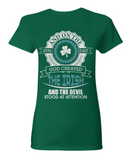God Created The Irish - T-Shirt
