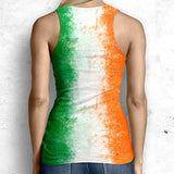 Irish Flag All Over Print Tank Tops