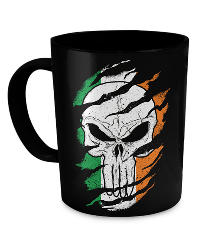 Irish American Skull - Coffee Mug