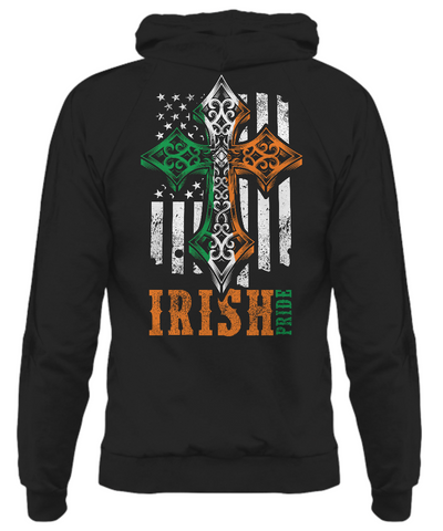 American Flag with Celtic Cross - Hoodie