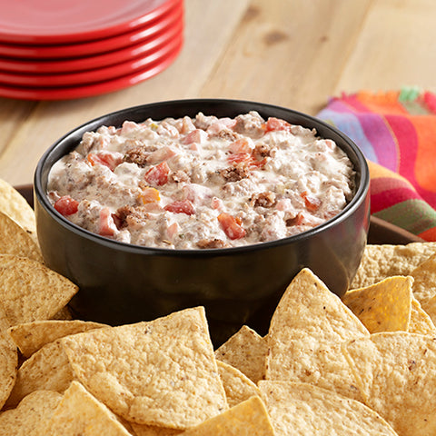 Zesty spicy sausage cream cheese dip from food.com via baltic born