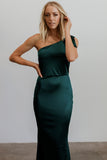 Elizabeth Emerald One Shoulder Gown