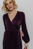 Venus Plum Pleated Maxi Dress - Baltic Born
